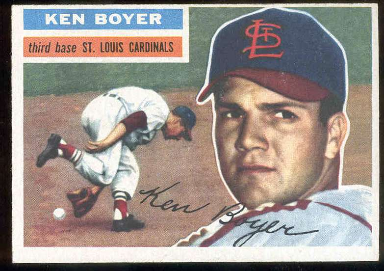 1956 Topps #.14 Ken Boyer [#c] (white back) (2nd year card) (Cardinals) Baseball cards value