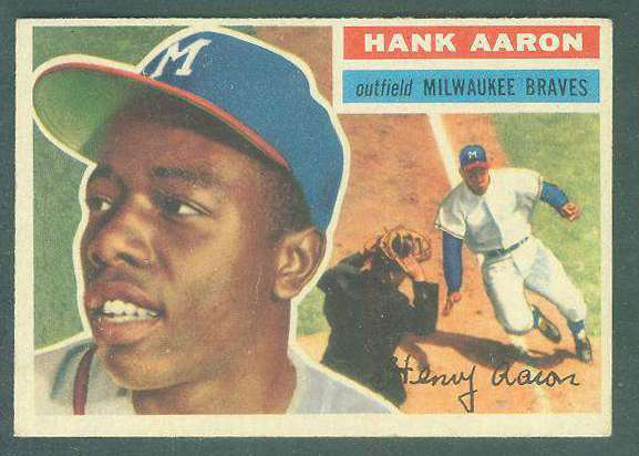 1956 Topps #.31 Hank Aaron UER [#a] (Braves) Baseball cards value