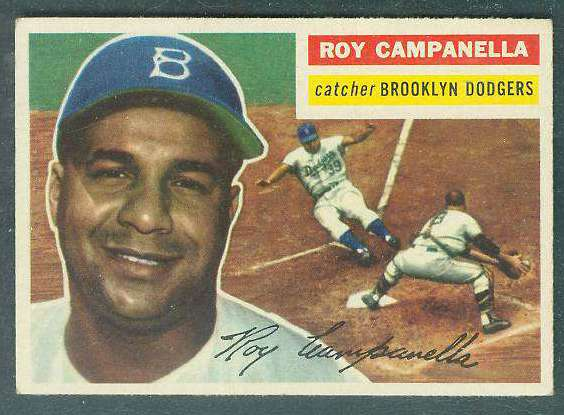 1956 Topps #101 Roy Campanella (Dodgers) Baseball cards value