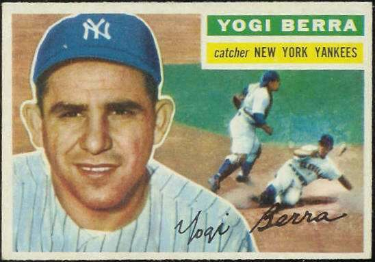 1956 Topps #110 Yogi Berra [#a] (Yankees) Baseball cards value