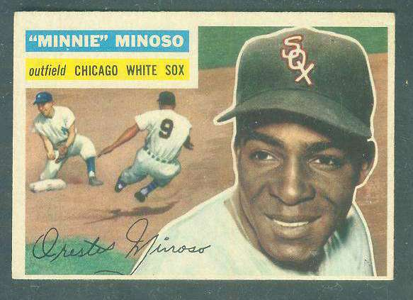 1956 Topps #125 Minnie Minoso [#b] (White Sox) Baseball cards value