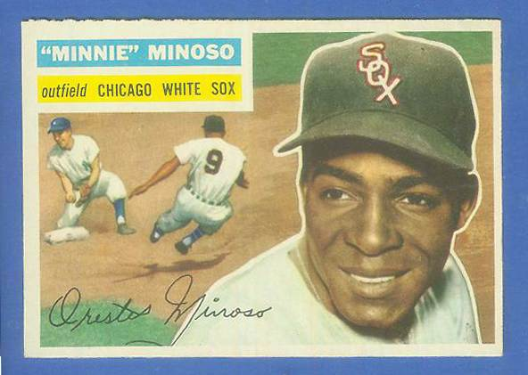 1956 Topps #125 Minnie Minoso [#c] (White Sox) Baseball cards value