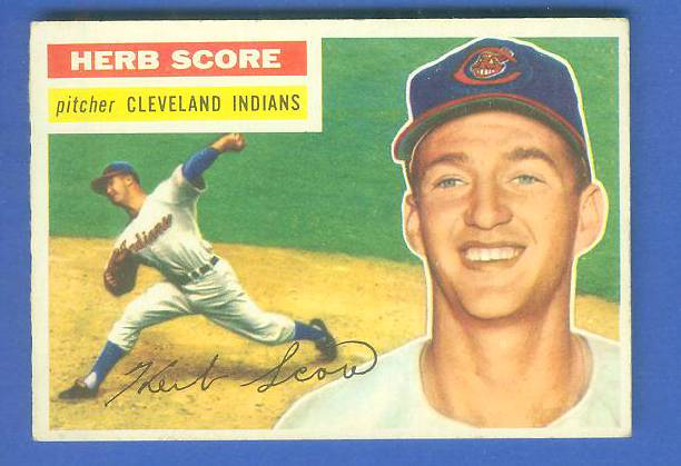 1956 Topps #140 Herb Score ROOKIE (Indians) Baseball cards value