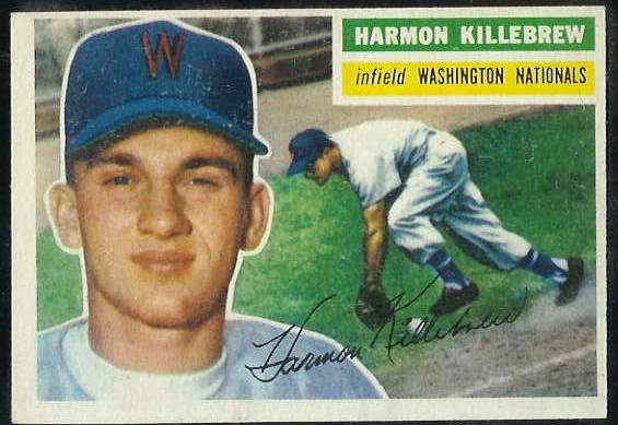 1956 Topps #164 Harmon Killebrew [#a] (Washington Nationals/Senators) Baseball cards value
