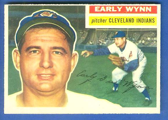 1956 Topps #187 Early Wynn (Indians) Baseball cards value
