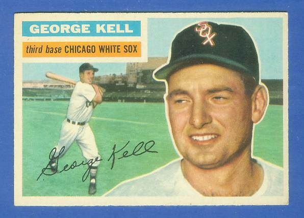 1956 Topps #195 George Kell [#c] (White Sox) Baseball cards value