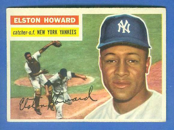 1956 Topps #208 Elston Howard (Yankees) Baseball cards value