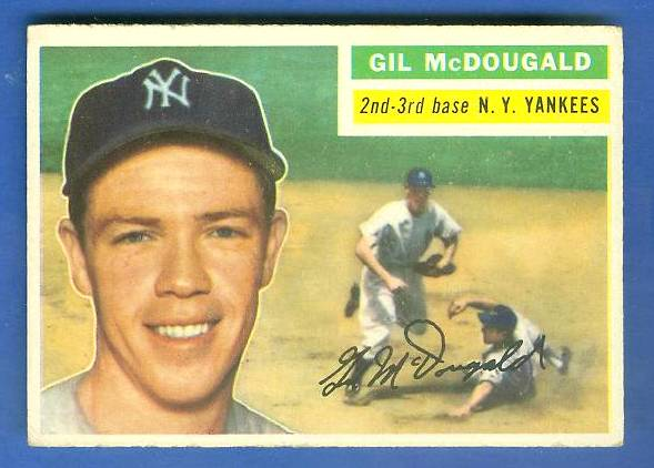 1956 Topps #225 Gil McDougald (Yankees) Baseball cards value