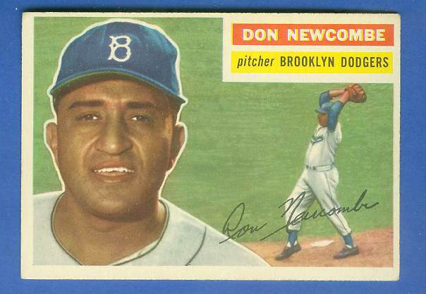 1956 Topps #235 Don Newcombe [#c] (Dodgers) Baseball cards value