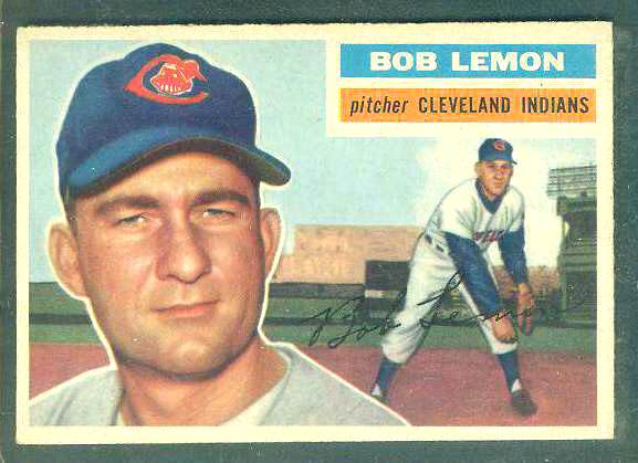 1956 Topps #255 Bob Lemon [#a] (Indians) Baseball cards value