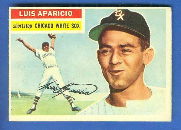 1956 Topps #292 Luis Aparicio ROOKIE [#a] (White Sox) Baseball cards value