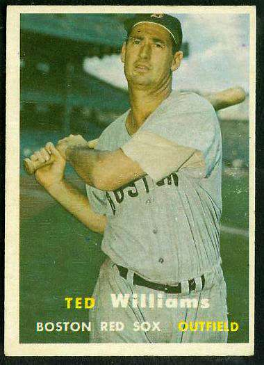 1957 Topps #..1 Ted Williams [#b] (Red Sox) Baseball cards value
