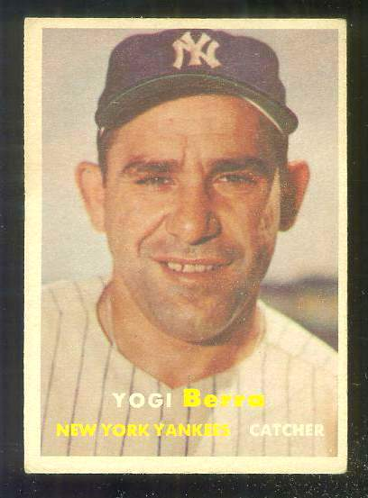 1957 Topps #..2 Yogi Berra (Yankees) Baseball cards value
