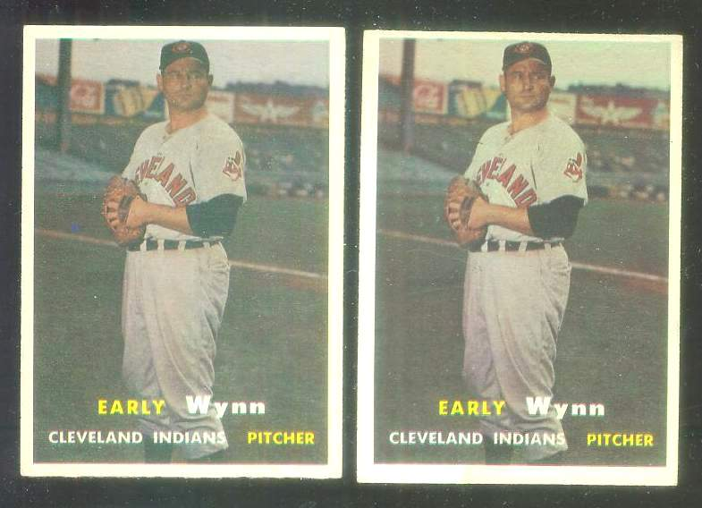 1957 Topps #.40 Early Wynn [#a] (Indians) Baseball cards value