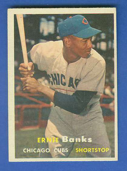 1957 Topps #.55 Ernie Banks (Cubs) Baseball cards value