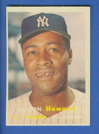 1957 Topps #.82 Elston Howard (Yankees) Baseball cards value