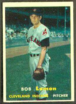 1957 Topps #120 Bob Lemon (Indians) Baseball cards value