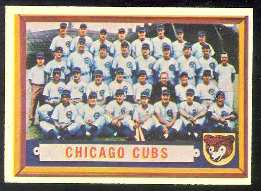 1957 Topps #183 Cubs TEAM card [#a] Baseball cards value