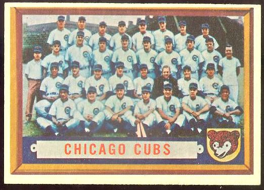 1957 Topps #183 Cubs TEAM card [#b] Baseball cards value