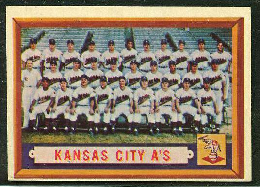 1957 Topps #204 Kansas City Athletics TEAM card [#a] (A's) Baseball cards value