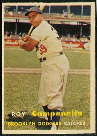 1957 Topps #210 Roy Campanella (Brooklyn Dodgers) Baseball cards value
