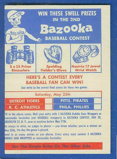 1957 Topps   #2 Contest Card (Series 2,May 25th) [#c] Baseball cards value
