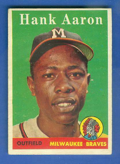1958 Topps #.30 Hank Aaron (Braves) Baseball cards value