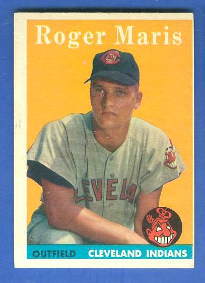 1958 Topps #.47 Roger Maris ROOKIE (Kansas City A's) Baseball cards value
