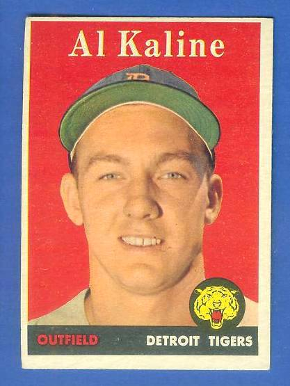 1958 Topps #.70 Al Kaline (Tigers) Baseball cards value