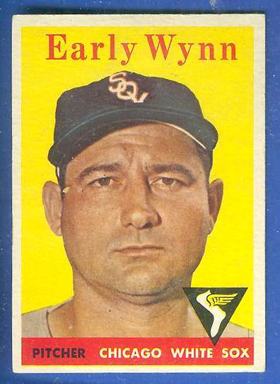 1958 Topps #100 Early Wynn [#a] (White Sox) Baseball cards value
