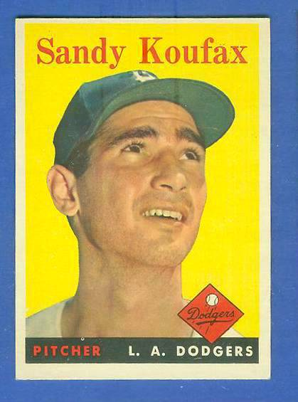 1958 Topps #187 Sandy Koufax (Dodgers) Baseball cards value