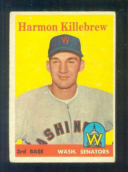 1958 Topps #288 Harmon Killebrew (Senators) Baseball cards value