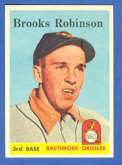 1958 Topps #307 Brooks Robinson (Orioles) Baseball cards value