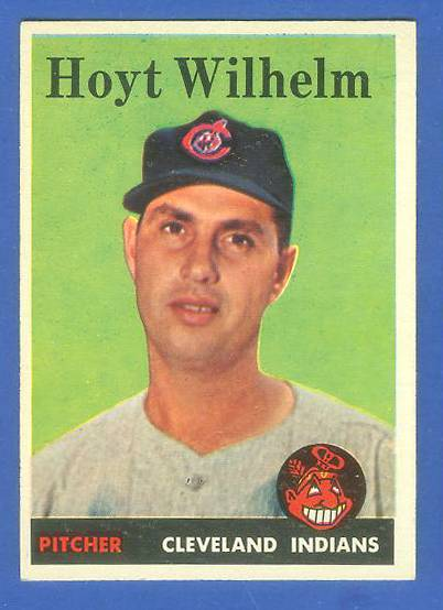 1958 Topps #324 Hoyt Wilhelm (Indians) Baseball cards value