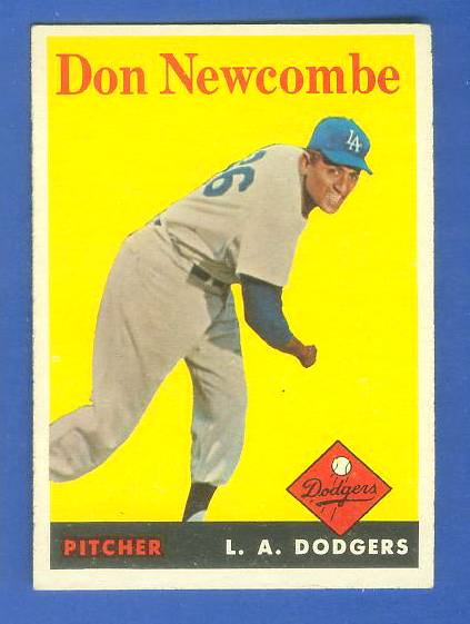 1958 Topps #340 Don Newcombe (Dodgers) Baseball cards value