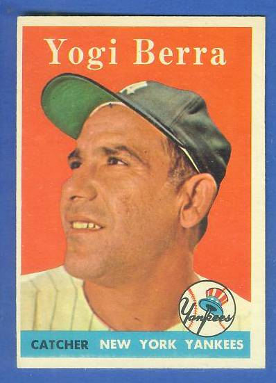 1958 Topps #370 Yogi Berra (Yankees) Baseball cards value