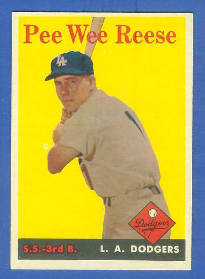 1958 Topps #375 Pee Wee Reese (Dodgers) Baseball cards value