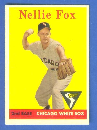 1958 Topps #400 Nellie Fox (White Sox) Baseball cards value