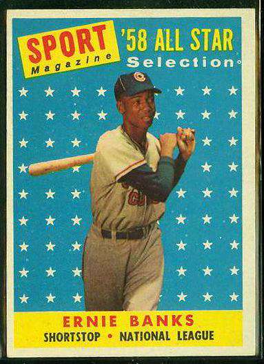 1958 Topps #482 Ernie Banks All-Star [#a] (Cubs) Baseball cards value