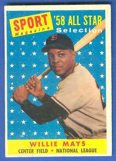1958 Topps #486 Willie Mays All-Star (Giants) Baseball cards value