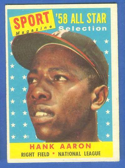 1958 Topps #488 Hank Aaron All-Star (Braves) Baseball cards value