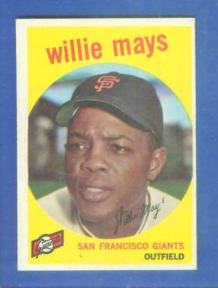 1959 Topps #.50 Willie Mays [#a] (Giants) Baseball cards value