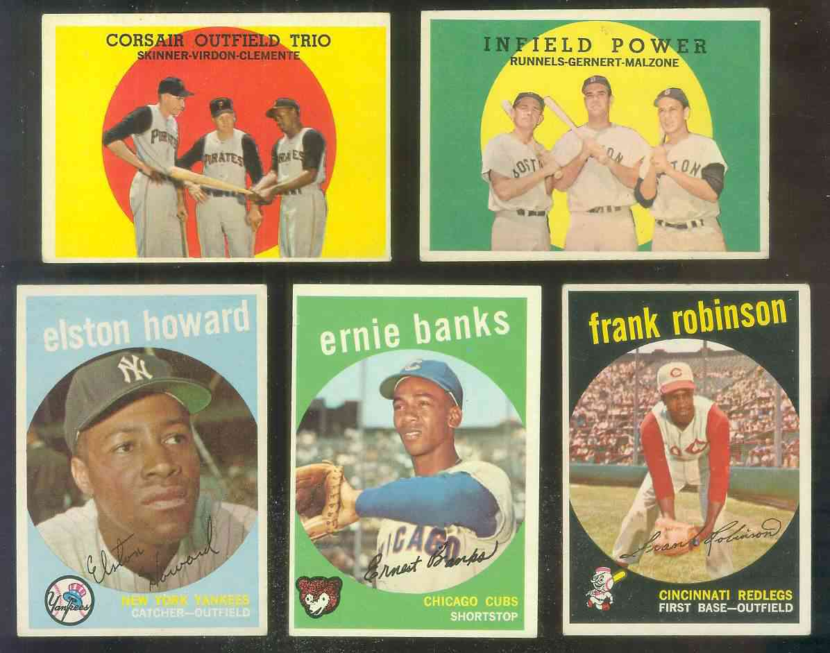 1959 Topps #350 Ernie Banks [#b] (Cubs) Baseball cards value