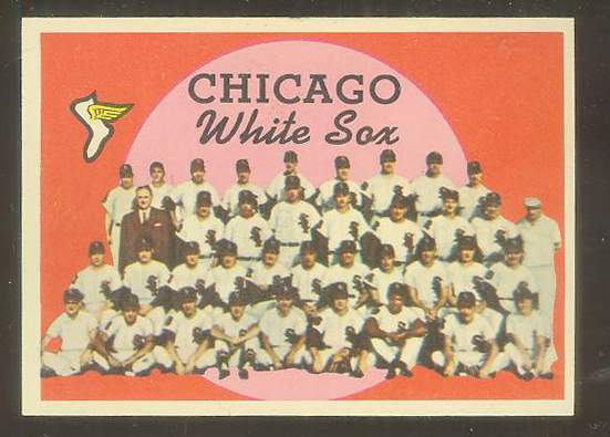1959 Topps #.94 White Sox TEAM card [#a] (Checklist on back) Baseball cards value