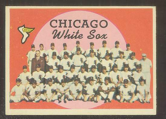 1959 Topps #.94 White Sox TEAM card [#b] (Checklist on back) Baseball cards value