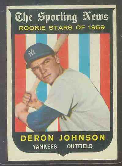 1959 Topps #131 Deron Johnson ROOKIE [#a] (Yankees) Baseball cards value