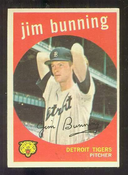 1959 Topps #149 Jim Bunning [#b] (Tigers) Baseball cards value
