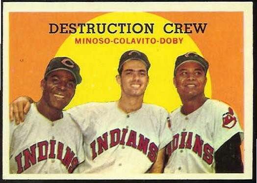 1959 Topps #166 'Destruction Crew' [#a] (Indians) Baseball cards value