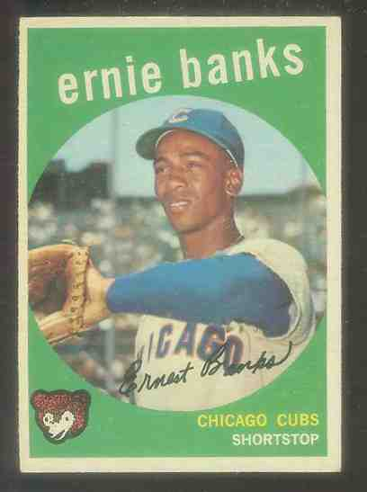 1959 Topps #350 Ernie Banks [#a] (Cubs) Baseball cards value