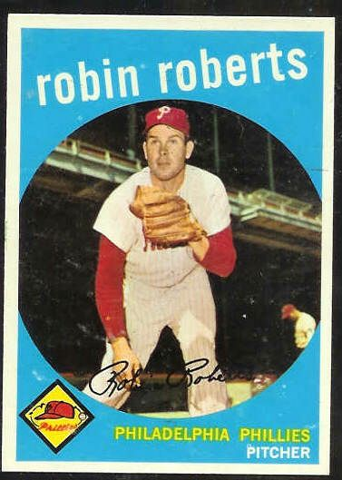 1959 Topps #352 Robin Roberts [#a] (Phillies) Baseball cards value
